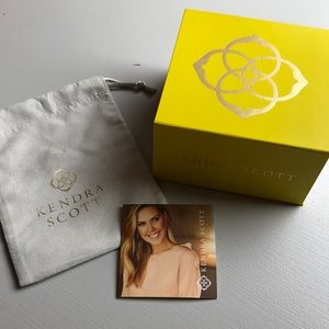Kendra Scott jewelry box and jewelry bag